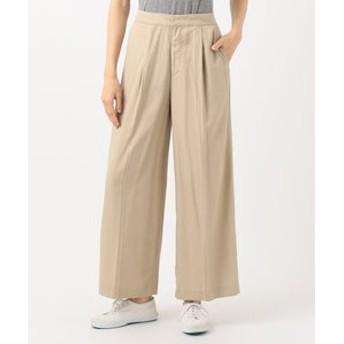 【SHARE PARK LADIES:パンツ】【洗える】センタープレスワイド パンツ