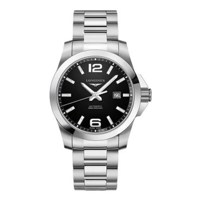 LONGINES 浪琴 征服者300米黑面機械腕錶 L37784586 43mm