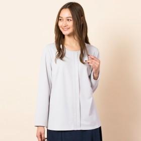 [マルイ] [大きいサイズ/L-LL]配色ステッチデザインブラウス風Tシャツ/ピサーノ(PISANO)