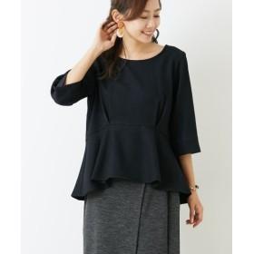 ウール調素材ペプラムフレア7分袖ブラウス (ブラウス)Blouses, Shirts, 衫, 襯衫