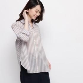 [マルイ] 【ハンドウォッシュ】マルチストライプシャツ/エアパペル(Airpapel)