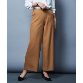 洗えるウール調ストレッチセミワイドパンツ(上下別売り)【レディーススーツ】 (大きいサイズレディース)スーツ,women's suits ,plus size