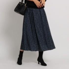 インディヴィ(INDIVI)/[S]【WEB限定・マシンウォッシュ】レオパ風ロングスカート