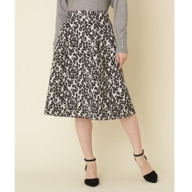 Couture Brooch / クチュールブローチ 【WEB限定サイズ(LL)あり】コブラン織り レオパードスカート