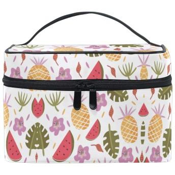 パイナップルスイカ化粧品袋オーガナイザージッパー化粧バッグポーチトイレタリーケースガールレディース