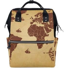 おむつバッグ世界地図コンパスおむつ バッグ バックパック ママバッグ カジュアル 軽量 大容量 トラベル マミー用