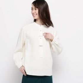 [マルイ] 【ハンドウォッシュ】麻コットン(綿)クロスシャツ/エアパペル(Airpapel)