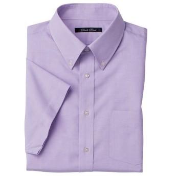 【メンズ】 形態安定ボタンダウンYシャツ(半袖) - セシール ■カラー:ラベンダー系 ■サイズ:L,LL,3L,5L,4L,M