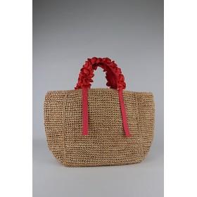 <LUDLOW/ラドロー>【予約販売】【4月上旬以降届】Grape handle tote(Raffia) Coral【三越・伊勢丹/公式】