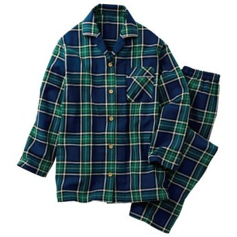【レディース】 チェックシャツパジャマ(綿100%) - セシール ■カラー:ネイビーブルー ■サイズ:5L,3L,LL,L,M