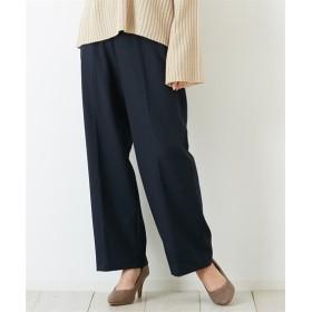 通勤におすすめ♪ ウール調素材 センタープレスストレートパンツ (レディースパンツ),pants