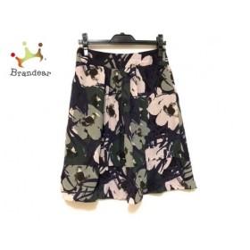 マックスマーラスタジオ スカート サイズ38 M レディース 美品 パープル×黒×マルチ 新着 20190920