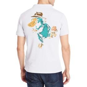 Perry The Platypus カモノハシペリー ポロシャツ メンズ 半袖 POLO Tシャツ スポーツポロシャツ ゴルフウェア ボタンダウン バックプリント 無地 通気 吸汗速乾 おしゃれ ファッション 春秋 ユニセックス