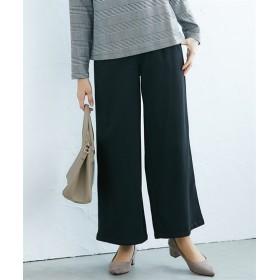 裏微起毛タックセミワイドパンツ(セットアップ対応) (レディースパンツ)Pants, 子, 子