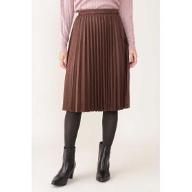 NATURAL BEAUTY ◆スエードプリーツスカート ひざ丈スカート,ブラウン1
