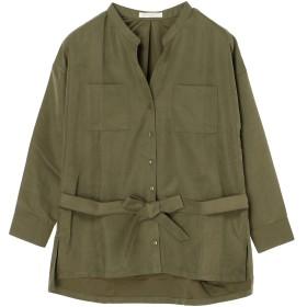 【オンワード】 Green Parks(グリーンパークス) ダブルポケットシャツブラウス Khaki F レディース 【送料無料】