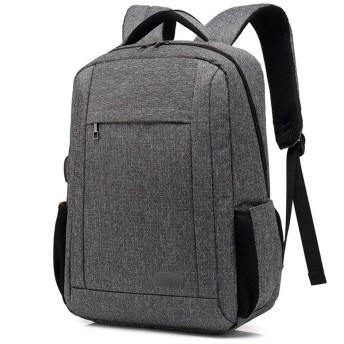 YIKETING Usbノートブックバックパックを持つ旅行バックパックタブレットバッグ男性 (色 : グレー, サイズ : 15inch)