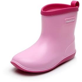 [Tomorrow's star] レインブーツ キッズ 女の子 男の子 ジュニア 長靴 雨 雪 子供靴 通園・通学 17cm ピンク