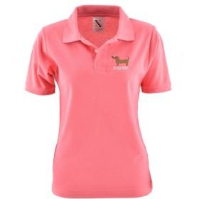 [X-CLOTHES] ポロシャツ 半袖 ビッグ ワンポイント 刺繍 グッズ レディース 服 犬 イヌ いぬ ピンク 犬26
