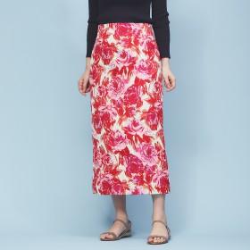 Rouge vif(ルージュ・ヴィフ)/フラワージャガードタイトスカート