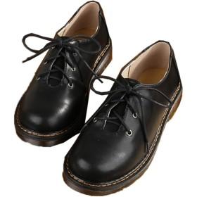[JGFI] 革靴 レースアップシューズ ブラック おじ靴 軽量 フォーマル オックスフォード 疲れない 痛くない カジュアル マニッシュ 可愛い ローカット 着心地よい シンプル 滑り防め ベーシック オシャレ 牛革 フラット 大きいサイズ 22.5cm