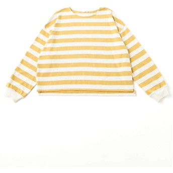 (ハニーズ シネマクラブ)Honeys CINEMA CLUB 袖口リブ使いプルオーバー 546011506355 オートミール×黄 L