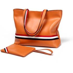 諸葛·チューコー レディースハンドバッグシンプルで多目的なハンドバッグショルダーバッグバケットバッグ (Color : Brown, Size : M)