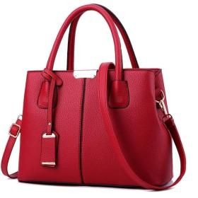 新しいハンドバッグシンプルなファッショントレンドのハンドバッグのショルダー斜めの大きな袋脂肪の世代の2019春と夏の韓国語バージョン,赤ワイン