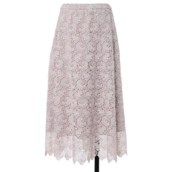ef-de L / エフデ(エルサイズ) 《大きいサイズ》トルコレーススカート 《Maglie White》