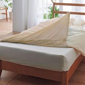 毛布・肌布団用ニットカバー - セシール ■カラー:ベージュ アクアブルー ■サイズ:シングルA(肌布団用),シングルB(毛布用)