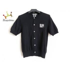 ブラックコムデギャルソン BLACK COMMEdesGARCONS カーディガン サイズS レディース 黒 半袖  値下げ 20191208