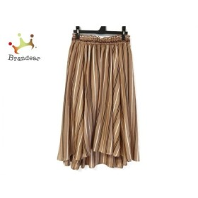 ナラカミーチェ NARACAMICIE スカート サイズ1 S レディース 美品 ライトブラウン×黒×白 新着 20190920