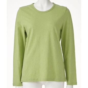 20%OFF【レディース】 型崩れしにくいSZTシャツ 長袖 - セシール ■カラー:アースグリーン(杢) ■サイズ:L,LL,M,3L