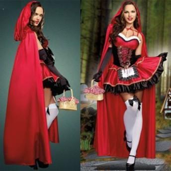 大人レディース ハロウィン 魔女 赤ずきん ハロウィンにぴったりのコスプレ コスプレ コスチューム ハロウィン パーティー ダンス衣装