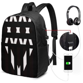 ONE OK ROCK リュックサック バックパック 17インチ USB充電ポート付き 季節新品 通学 通勤 出張 旅行 多機能 メンズ レディース 大容量 黒 アウトドアリュック 登山リュック 17x 12 X 6.5in