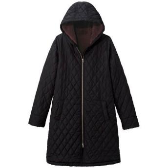 【レディース大きいサイズ】 裏フリースキルティングコート(手洗いOK) - セシール ■カラー:ブラック ■サイズ:5L,6L,L,LL,3L,4L