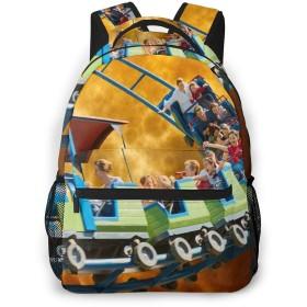 リュック バック ジェットコースターの夕日, リュックサック ビジネスリュック メンズ レディース カジュアル 男女兼用大容量 通学 旅行 鞄 カバン