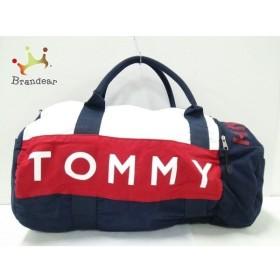 トミーヒルフィガー TOMMY HILFIGER ボストンバッグ ネイビー×レッド×アイボリー ナイロン 新着 20191025