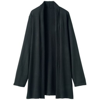 60%OFF【レディース】 ロングニットカーディガン - セシール ■カラー:ブラック ■サイズ:S,M
