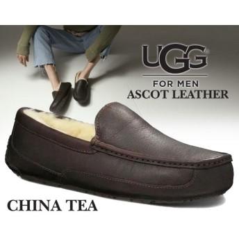 【アグ メンズ アスコット】UGG MENS ASCOT LEATHER CHINA TEA【モカシンシューズ メンズ ファー スリッポン ローファー】