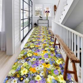 CAIJUN 廊下のカーペット ランナー ラグ 牧歌的なスタイル ロング 玄関カーペット ノンスリップ 掃除が簡単 快適 デコレーション、 カスタムサイズ (Color : A, Size : 1.1x9m)