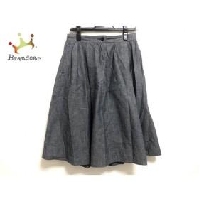 マーガレットハウエル MHL. スカート サイズ3 L レディース 美品 ネイビー 新着 20190920