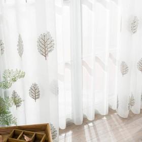 シンプル モダンな白いカーテン,ベイウィンドウ,バルコニー糸,半薄いカーテン,パネル,ホワイト シアー カーテン 1 枚入-21 350x270cm