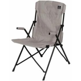 クイックキャンプ (QUICKCAMP) ハイバックチェア グレー QC-HFC アウトドア用 軽量 折りたたみ チェア 椅子 イス 集束式 コンパクト【x