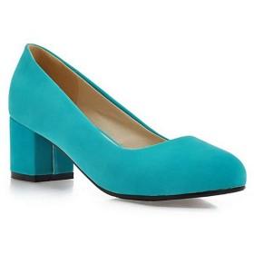 [AcMeer] パンプス レディース 大きいサイズ スエード スエード 太ヒール 安定感 通勤靴 コスプレ オフィス 歩きやすい 疲れにくい ヒール5CM 26.0CM 25.5CM 黒 ピンク ベージュ 緑 ブルー