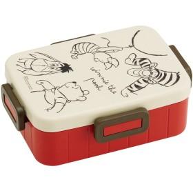 スケーター 4点ロック ランチボックス 650ml 弁当箱 くまのプーさん スケッチ のぞき ディズニー 日本製 YZFL7