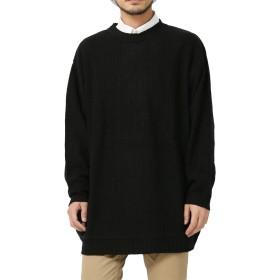 [アールディ.ゴースト] セーター ビッグシルエット クルーネック ニット メンズ ブラック Mサイズ