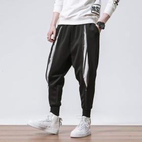 メンズ パンツ おおきいサイズ ズボン ヒップホップ ダンス サルエル カジュアルパンツ ファスナー スウェット ゆったり