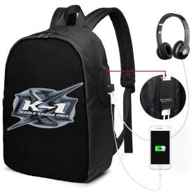 K-1 ケイワン 総合格闘技 リュックサック バックパック 17インチ USB充電ポート付き 季節新品 通学 通勤 出張 旅行 多機能 メンズ レディース 大容量 黒 アウトドアリュック 登山リュック 17x 12 X 6.5in