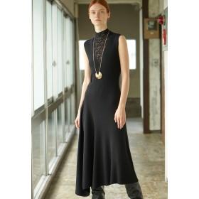 EPOCA *Marisol10月号掲載* 【La Maglia】アシンメトリーニットドレス ワンピース,黒
